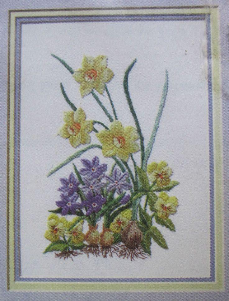 Janlynn embroidery kit yellow joy daffodils easy