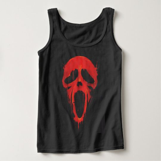 Ghost Face Halloween Custom Tanktops