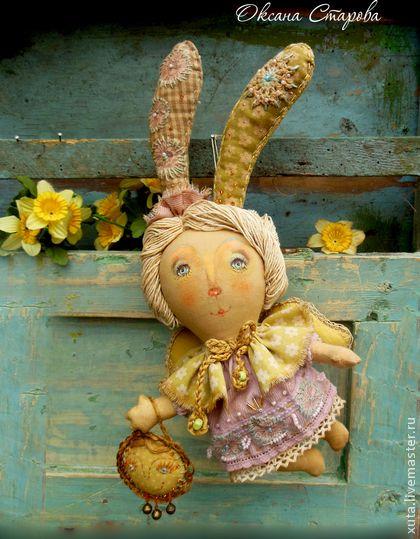 Ароматизированные куклы ручной работы: Мартовские зайчики. Handmade.