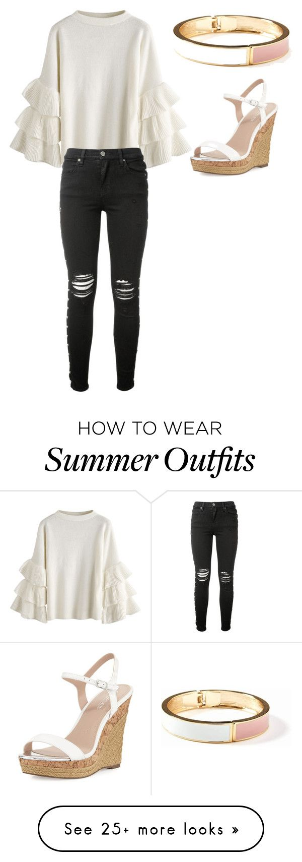 """""""The fancy summer outfit"""" by erhecht on Polyvore featuring Old Navy, Charles by Charles David and AMIRI"""