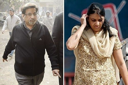 """An Indian couple have been jailed for life for slitting the throats of their 13-year-old daughter and a servant after finding them in an """"objectionable"""" situation.Rajesh and Nupur Talwar were accused of killing teenager Aarushi and their domestic servant Hemraj at their New Delhi home in May 2008."""