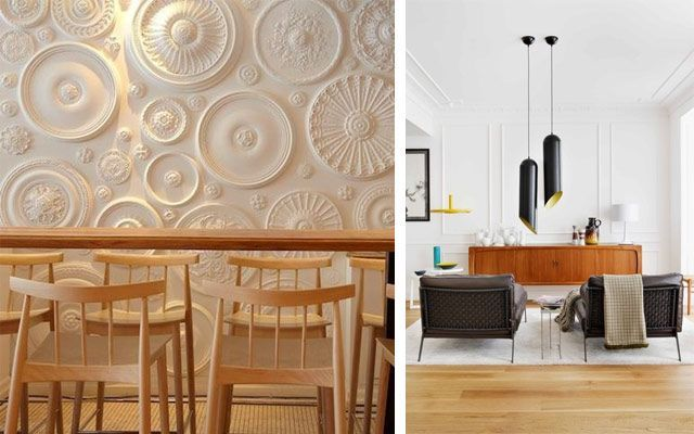 Cómo decorar casas con molduras de pared