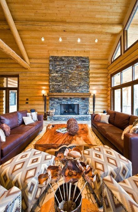 rustic living room furniture layout log cabins 57 ideas
