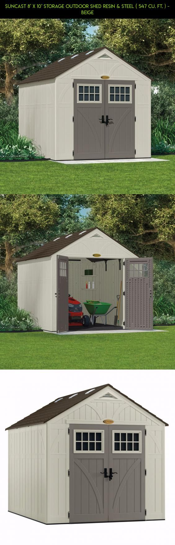 Suncast 8' x 10' Storage Outdoor Shed Resin & Steel ( 547 cu. ft. ) - Beige #storage #gadgets #parts #& #drone #kit #racing #products #shopping #sheds #outdoor #tech #plans #8x10 #technology #fpv #camera