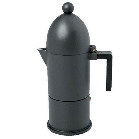 Alessi Espressokocher La Cupola schwarz, 300ml. #artvoll #Designer #AldoRossi www.artvoll.de