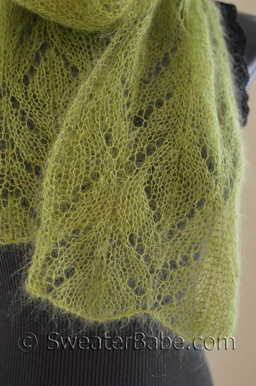 Free Knitting Pattern For Mohair Shawl : #211 Chalice One-Ball Scarf Knitting pattern by SweaterBabe.com Knitting Pa...