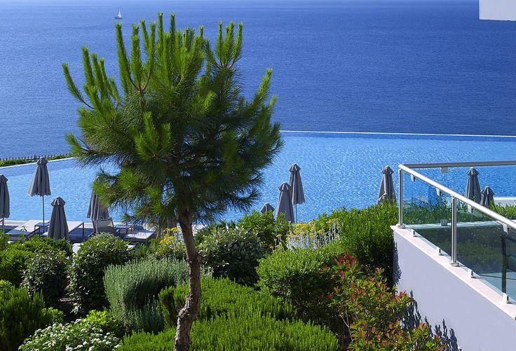 View over the #infinity pool, Michelangelo Resort & Spa, #Kos Island,  www.veranohotels.com
