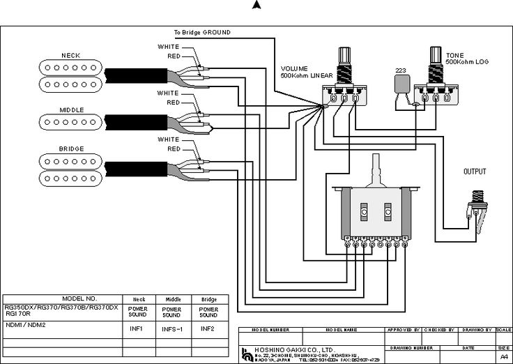 Changing The Pickup Soundsokok, Ibanez Rg 350 Wiring Diagram