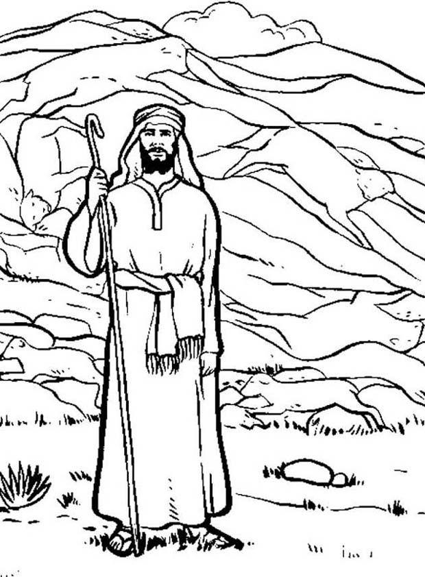 lot mag kiezen kleurplaten bijbel verhalen bijbel