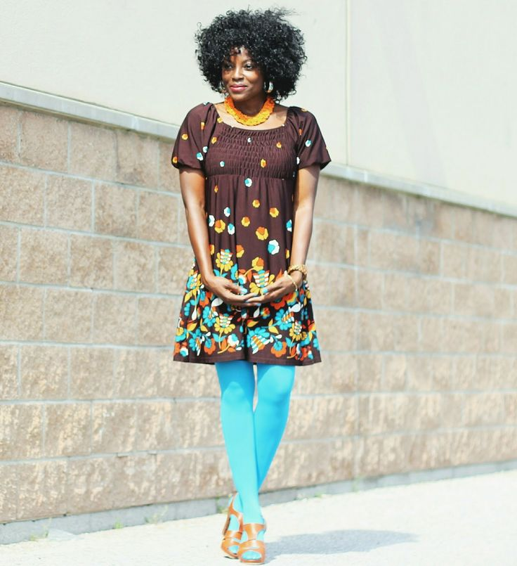 Boho and Retro style outfit mix with a gypsy dress - The Fashion Stir Fry