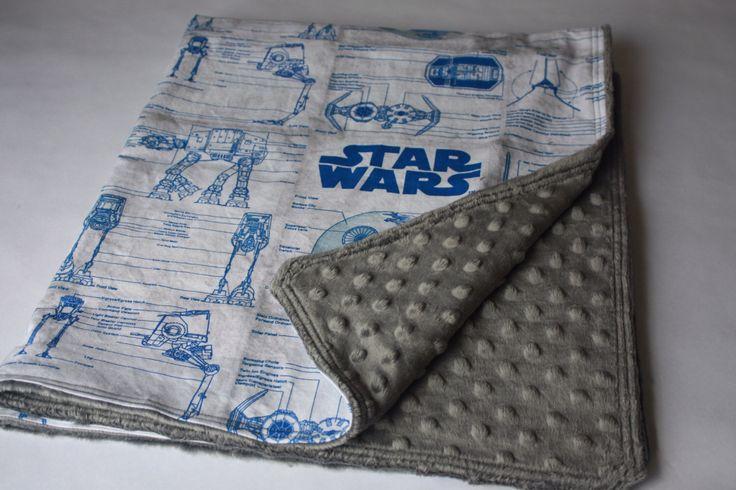 Star Wars Baby Blanket-R2-D2 Blue, White & Grey by BedHogShop on Etsy https://www.etsy.com/listing/193599753/star-wars-baby-blanket-r2-d2-blue-white