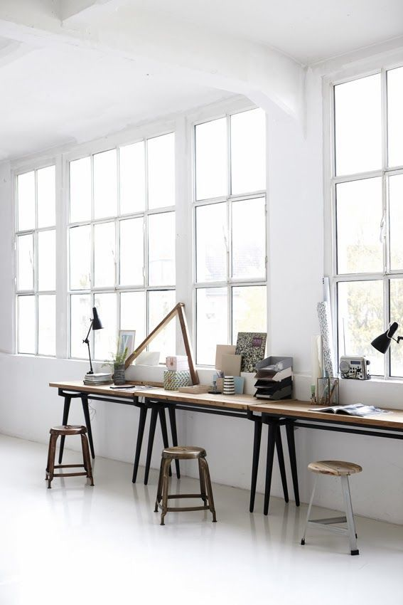 Bright, airy loft workspace.