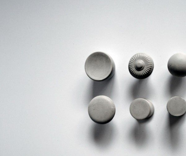 hardware: concrete drawer and cabinet knobs by KAST Concrete (Alabama)