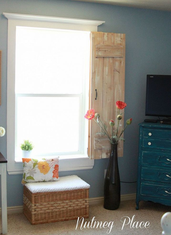 Window Molding And Rustic Indoor Shutters