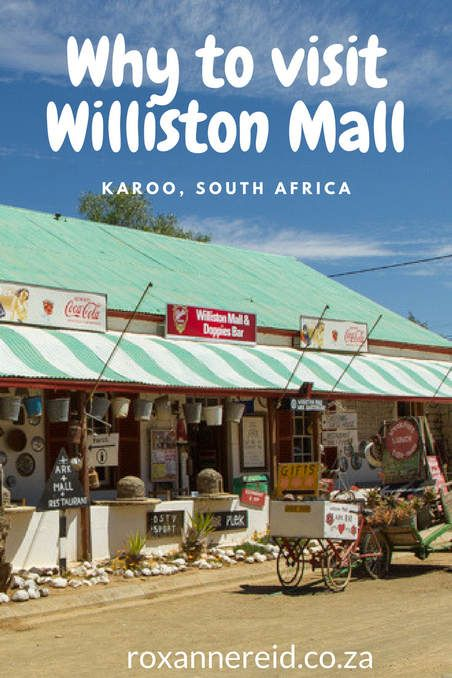 Somewhere between Sutherland and Carnarvon in the Karoo lies Williston. It's not the most promising destination overall, but well worth it just to visit the Williston Mall.