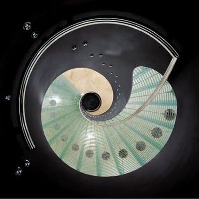 Yoga Capri Pants - Rubino Spiral Stairs by Tony Rubino Tony Rubino cHHYn2hwrP