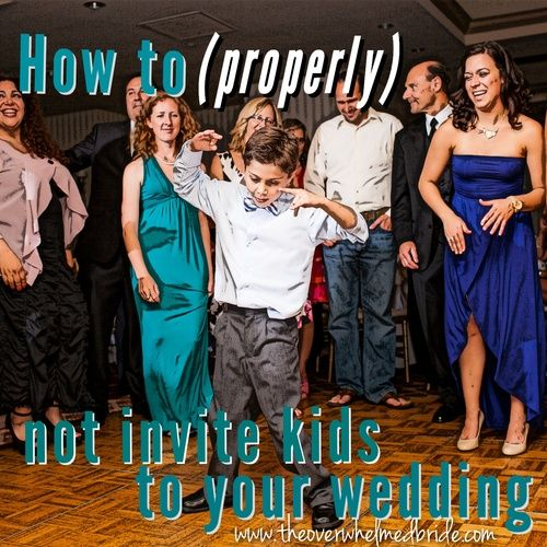 """Sunday's Most Loved // How to word invitations for a """"no kids"""" wedding!"""