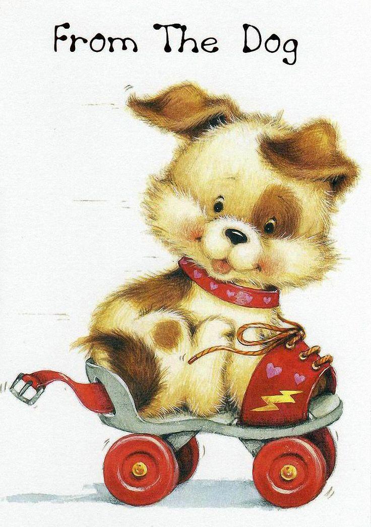 Советские открытки с животными для детей, картинки