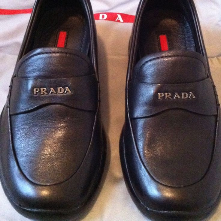 PRADA DESIGNER BABY TODDLER KIDS BOYS BLACK LEATHER DRESS SHOES! US 8