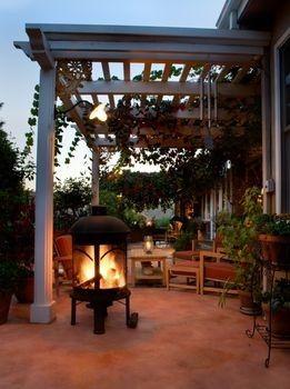 Outdoor Patio Ideas: Fire Pits, Outdoor Living, Outdoor Patio, Pergola, House, Backyard, Outdoor Spaces, Patio Ideas