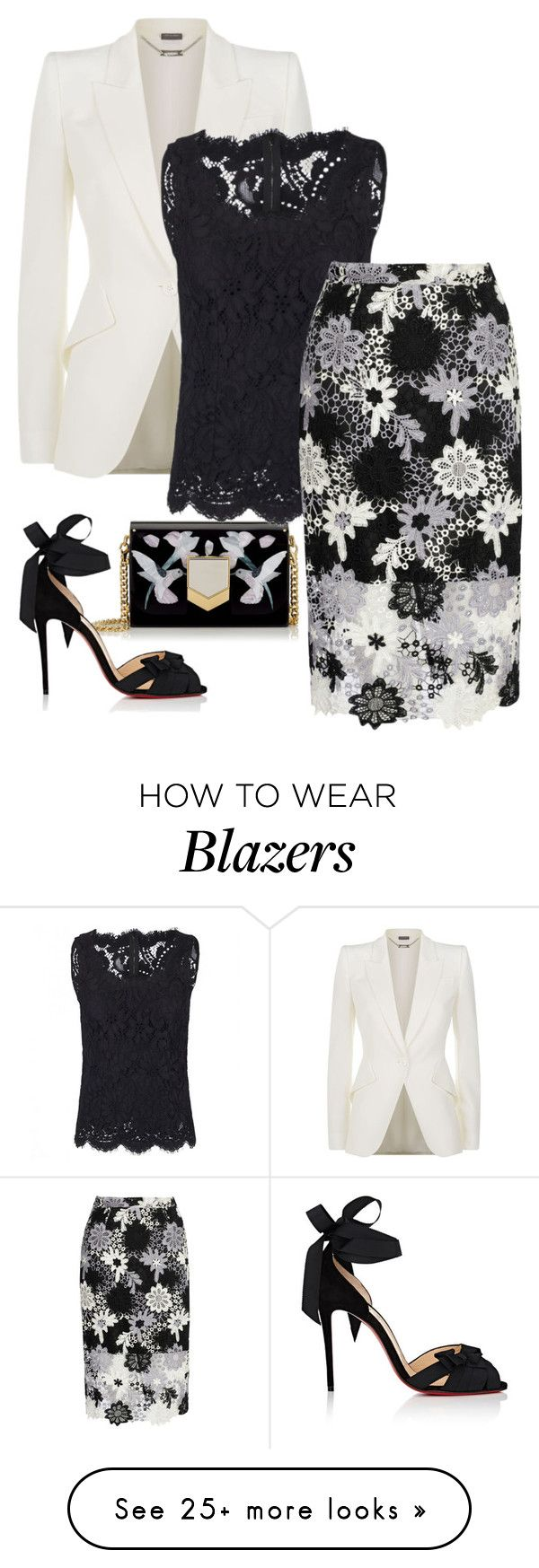 Untitled #155 by hisprincess2017 on Polyvore featuring Jimmy Choo, Alexander McQueen, Dolce&Gabbana, True Decadence and Christian Louboutin