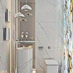 banheiro pequeno marmore
