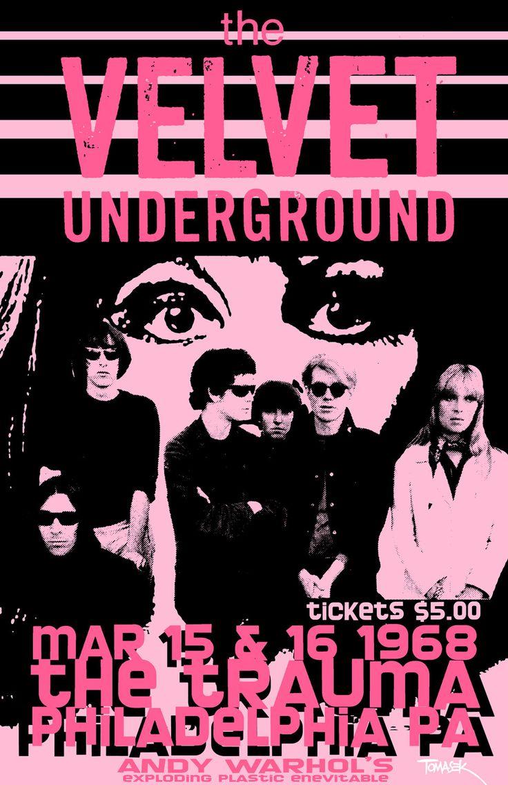 Velvet Underground 1968 Tour Poster