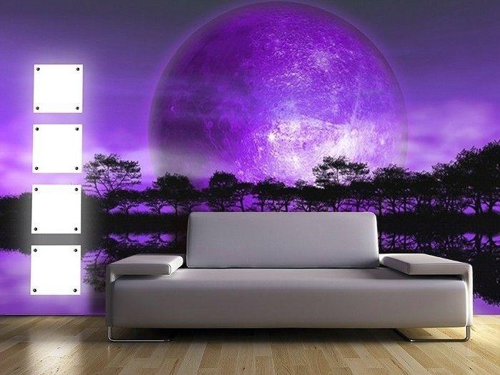 Lila Tapete Schlafzimmer. Die Besten 25+ Blaue Tapete Ideen Auf