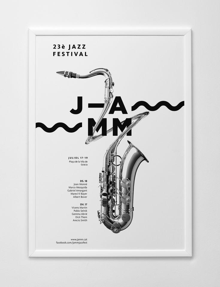 Jamm, identidad gráfica para la Asociación de Músicos de Jazz de Cataluña por Edu Torres