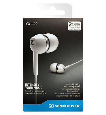 #Sennheiser CX1 #Earphones #White #10213834 #136 #Advantage card #points. #Sennheiser CX1 #Earphones- #Intensify your #music with #powerful #sound, deep bass and #ultra-small #design. #Sennheisers new CX 1.00 #headphones #offer a #powerful #sound #experience with a deep and #punchy #bass. FREE #Delivery on #orders over 45 GBP. #(Barcode EAN=4044155095982)
