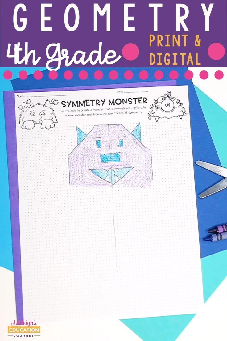 4th Grade Geometry Unit {angles, symmetry, lines