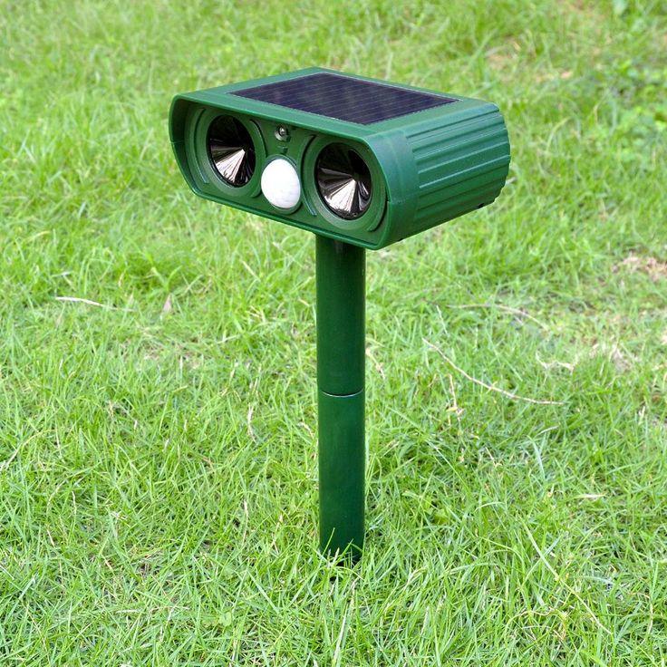 Outdoor Garden Solar Charge 25kHz Ultrasound Dog Repeller