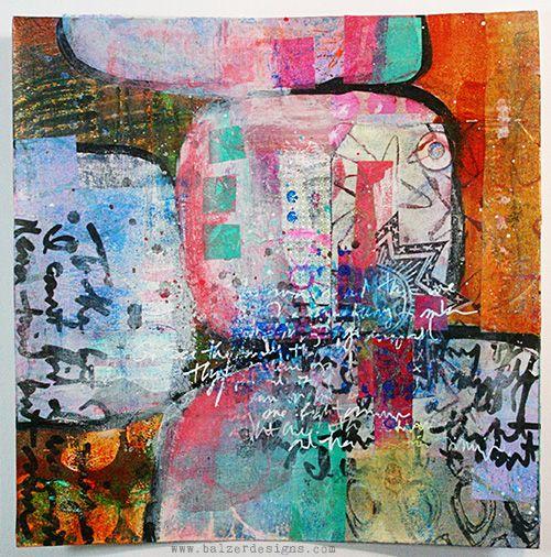 Julie Balzer Mixed Media Collage