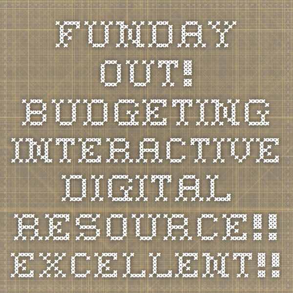 FUNDAY OUT! Budgeting interactive digital resource!! EXCELLENT!!!