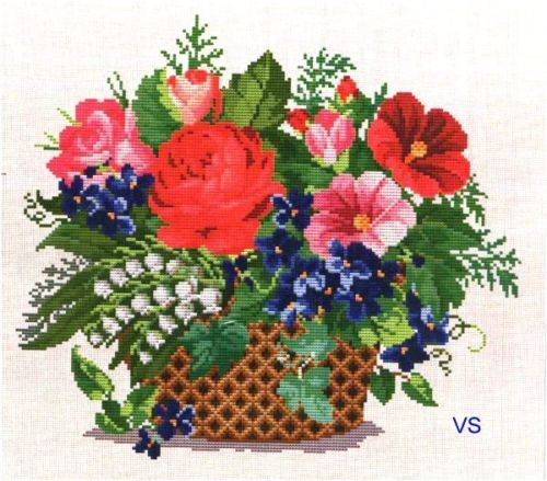 Flower Baskets Cross Stitch Charts : Best images about cross stitch flowers vases on