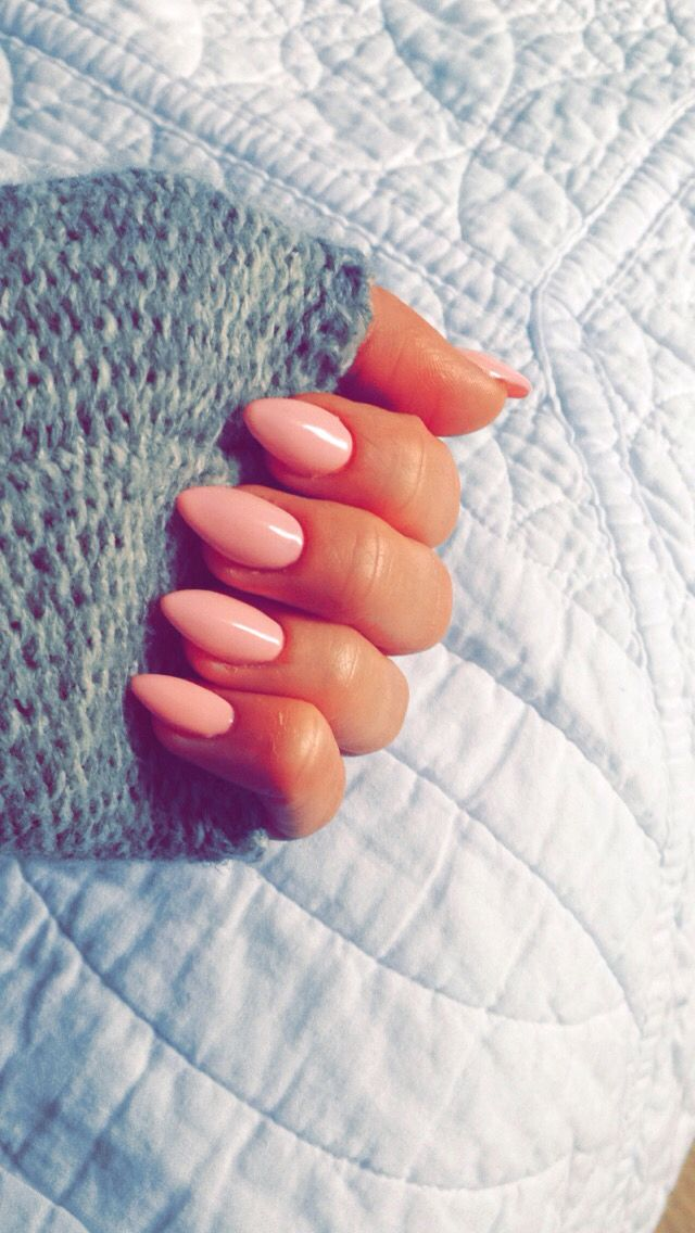 Nails, nude, almond, claws
