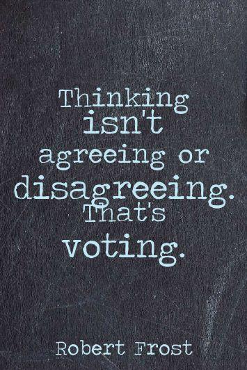 Feel FREE to disagree. VOTE!