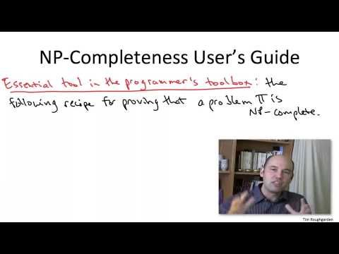 15.4 - Definition and Interpretation of NP Completeness 2 - NP Complete Problems By Tim Roughgarden - YouTube