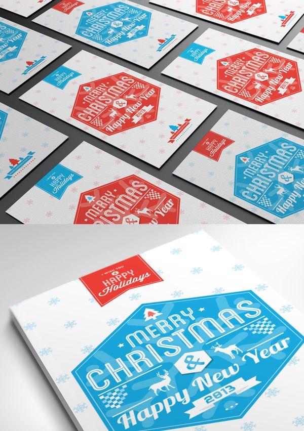 Typography Christmas Card 2013 on Behance | design: Rayz Ong