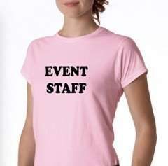 Event Staff  Why not take the pressure out of operating the party/event equipment yourself and let our trained professionals and uniformed staff do it for you . You can also use the equipment yourself and have the fun of using some of our fantastic items .