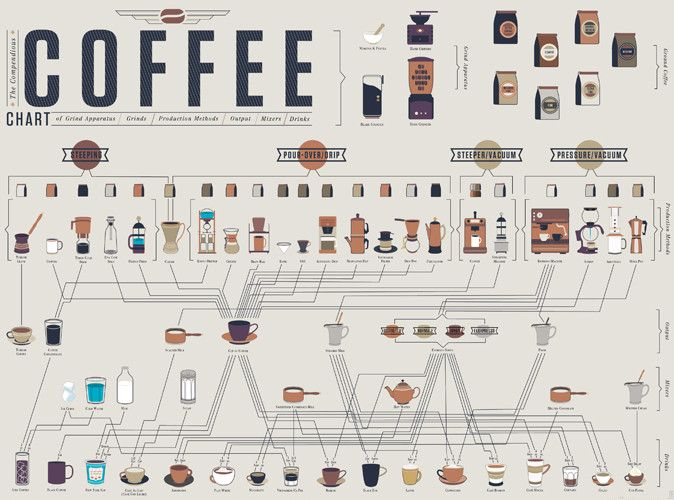 How to make every kind of coffee infographic