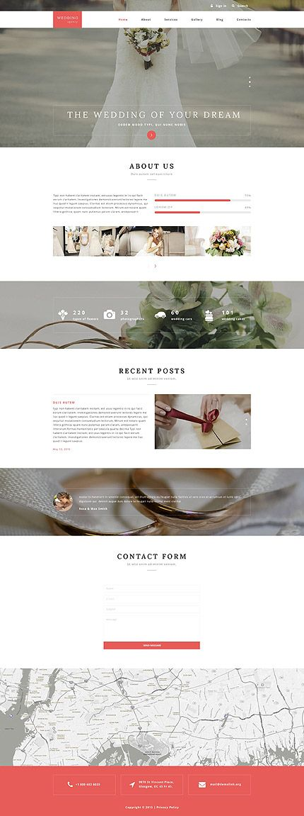 Wedding website inspirations at your coffee break? Browse for more Drupal #templates! // Regular price: $75 // Sources available: .PSD, .PHP #Wedding #Drupal