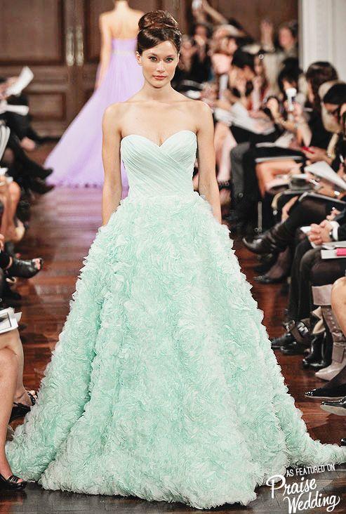 Romona Keveza romantic mint gown