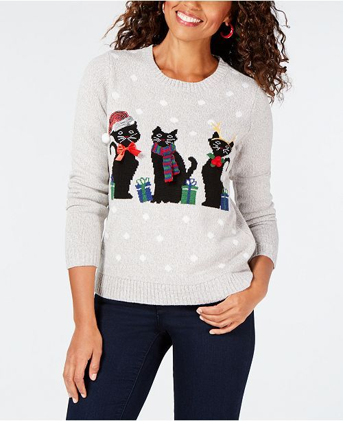 1a42727817a Festive Christmas sweater features adorable cats