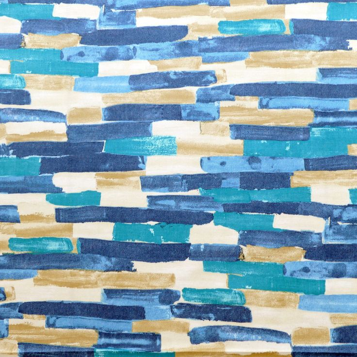 tissu au mètre imprimé SCION Bleu et beige : Tissus Ameublement par atelier-clair-obscur