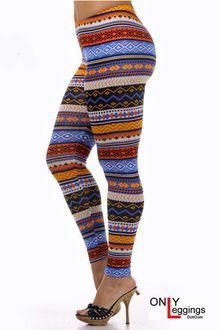 Colorful Aztec Leggings Plus Size