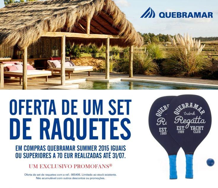 Oferta Set de Raquetes Quebramar - Em compras Quebramar iguais ou superiores a 70€