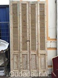 nr. 432b serie geloogde louvre deuren (80 stuks)