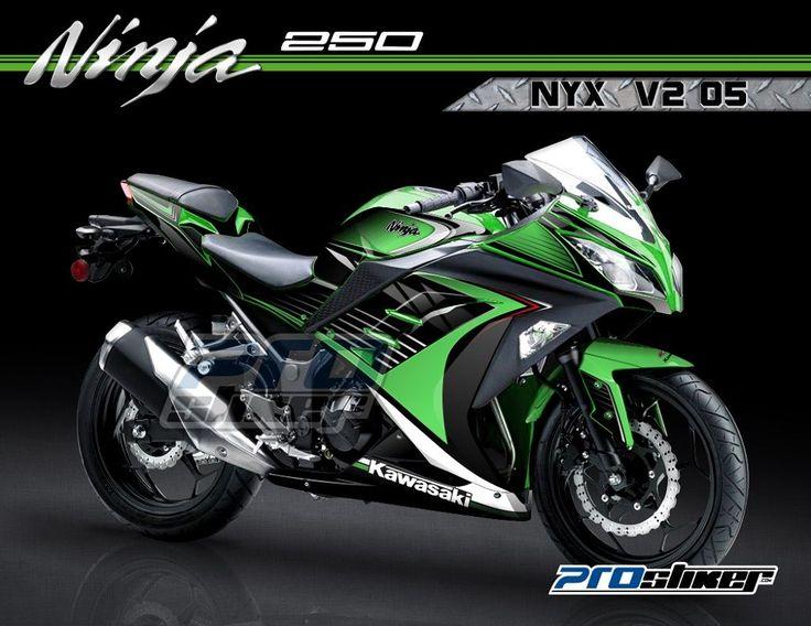 Stiker Ninja Fi 250cc Warna Hijau Motif Desain Grafis NYX V2 05 Prostiker