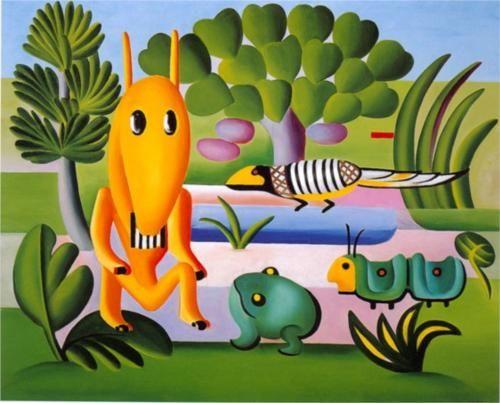 A Cuca - Tarsila do Amaral Artist: Tarsila do Amaral Completion Date: 1924 Style: Naïve Art (Primitivism) Period: Pau-Brasil Genre: animal painting